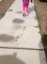 Meggan footprints